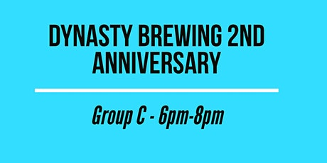 Dynasty Brewing 2nd Anniversary - GROUP C tickets