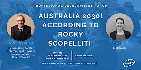 Australia 2030! according to Rocky Scopelliti tickets