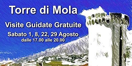 TORRE DI MOLA  - FORMIA - Visite Guidate Gratuite.29/08/2020 biglietti