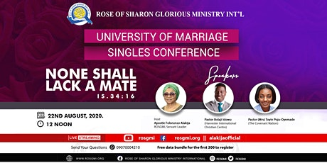 University of Marriage Singles Conference 2020 tickets