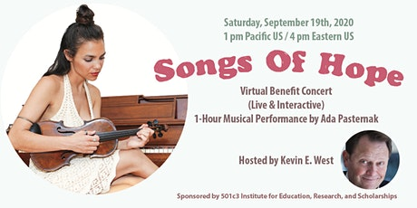 SONGS OF HOPE Virtual Benefit Concert (Live & Interactive) tickets