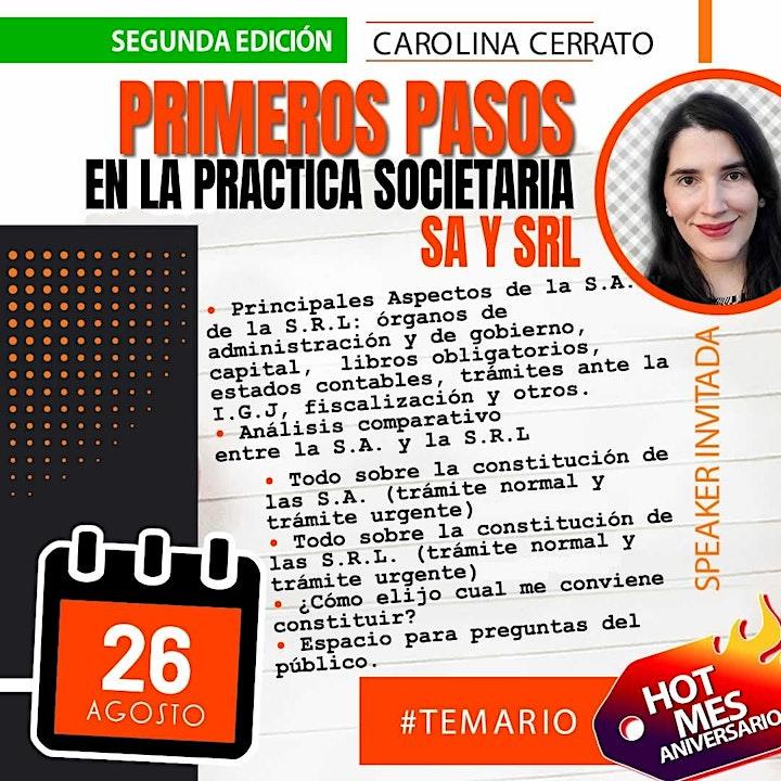 Imagen de /GRABACIONPrimeros pasos en la práctica societaria:Todo sobre  S.A. y S.R.L