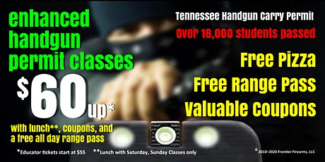 Sat or Sun Enhanced Handgun Carry Permit Class - Oct, Nov, Dec tickets