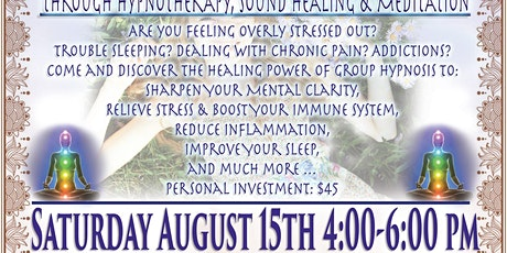 Relieving Stress: Hypnotherapy, Sound Healing & Meditation tickets