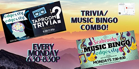 MUSIC BINGO/TRIVIA COMBO EVENT! EVERY MONDAY 6:30-8:30PM-EDGE CITY BREWERY tickets