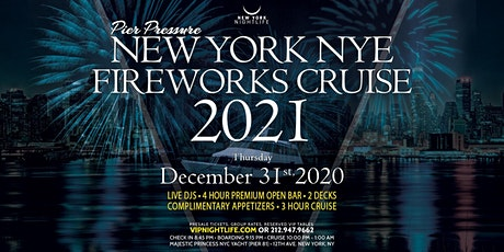 Pier Pressure New York New Year's Eve Fireworks Cruise 2021 tickets