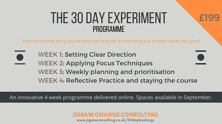 30 Day Experiment Programme image