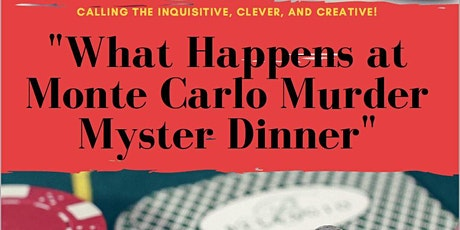 """""""Casino Night Mystery Dinner""""  4-course Food and wine pairing dinner tickets"""
