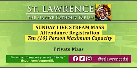 SUNDAY, August 16 @11:00 AM LIVE STREAM Mass Registration tickets