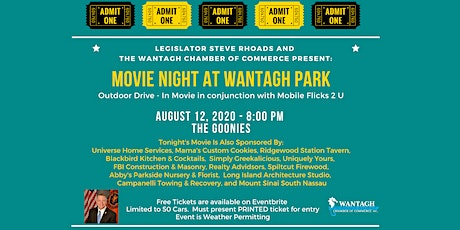 Movie Night at Wantagh Park - The Goonies- Free Family Fun! tickets