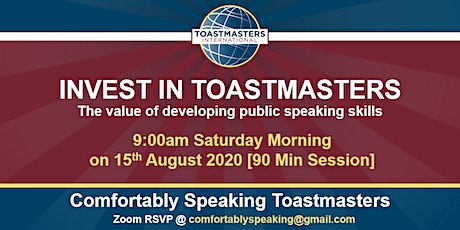 Invest in Toastmasters - The Value of Developing Public Speaking Skills tickets