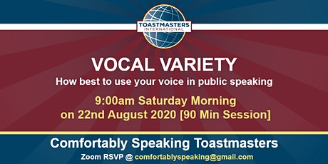 Vocal Variety - How to Use Your Voice in Public Speaking tickets