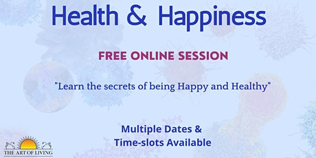 Health and Happiness through Breath and Meditation tickets