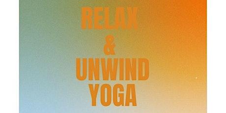 Relax & Unwind Yoga at Willow Design Studio tickets