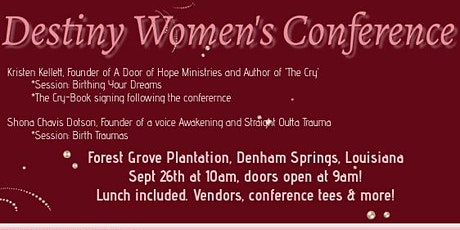 Destiny Women's Conference tickets
