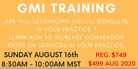 LEARN HOW TO SUCCESSFULLY LEVERAGE VIRTUAL CONSULTS IN YOUR PRACTICE. tickets