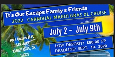 2022 Carnival Mardi Gras Cruise tickets
