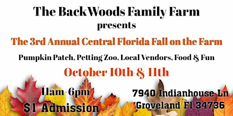 The 3rd Annual Central Florida Fall on the Farm tickets