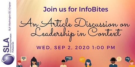 Infobites: An Article Discussion on Leadership in Context tickets