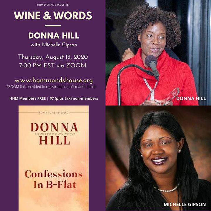 Wine and Words with Donna Hill image