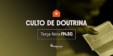 CULTO DE DOUTRINA (AGO) - 11/08/2020 ingressos