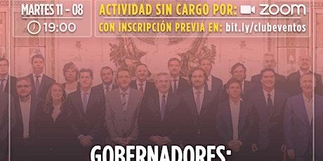 CLUB DE LA LIBERTAD - DEBATE ABIERTO - GOBERNADORES entradas