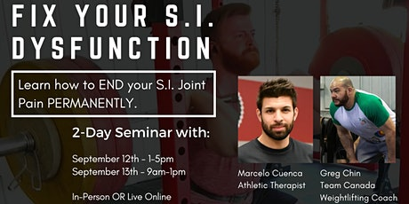Fix Your S.I. Dysfunction: How to Keep Your Hips Aligned & Hack Away Pain tickets
