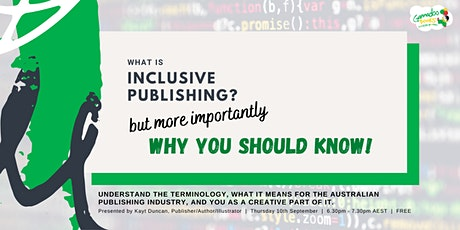 What is Inclusive Publishing? Why you should know! tickets
