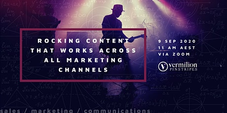 Rocking Content that Works across all Marketing Channels tickets