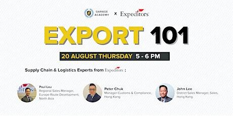 Export 101 tickets