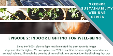 Sustainability Webinar, Episode 2-Indoor Lighting & Occupants Well Being tickets