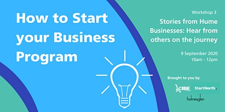 Start your business now program: Hear from others on the Journey tickets