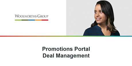 PROMOTIONS PORTAL DEAL MANAGEMENT tickets