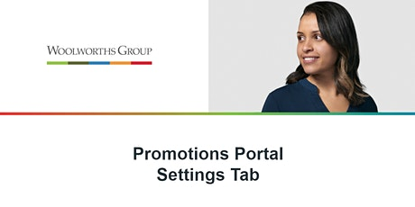 PROMOTIONS PORTAL MANAGING SETTINGS tickets