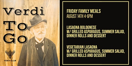 Verdi To Go Friday Family Meals 8/14 tickets