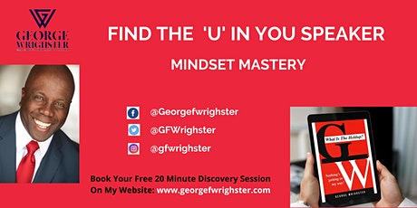 """LEARNING FROM THE """"FIND THE 'U' IN YOU """" SPEAKER tickets"""