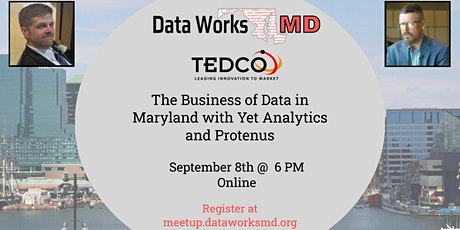 Online: The Business of Data in Maryland with Yet Analytics and Protenus tickets