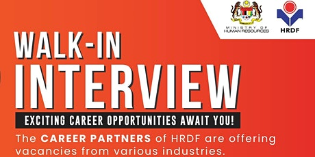 Walk-In Interview with Career Partners of HRDF tickets