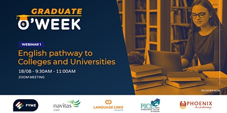 Graduate O'Week - Webinar 1: English pathway to Higher Education tickets