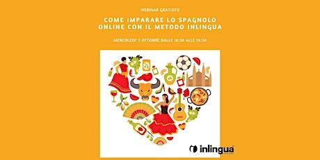 Come imparare lo Spagnolo online con il metodo inlingua biglietti
