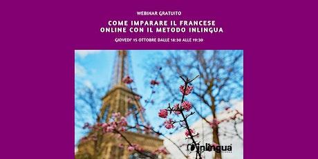 Come imparare il Francese online con il metodo inlingua biglietti