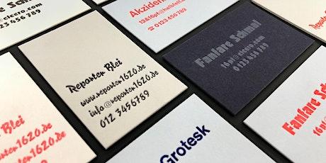 Business Card Letterpress Workshop p98a tickets