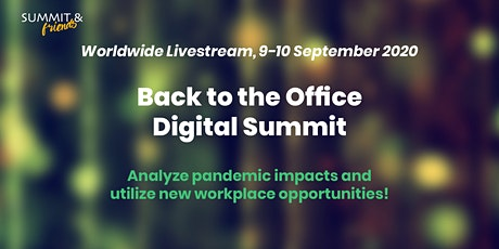 Back to the Office Digital Summit 2020 tickets