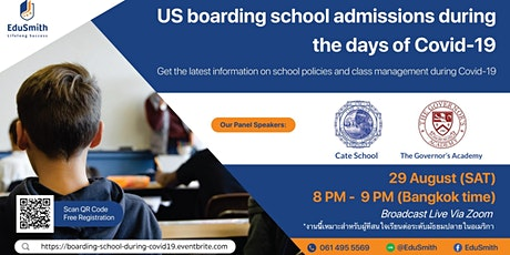 US boarding school admissions during the days of Covid-19 tickets