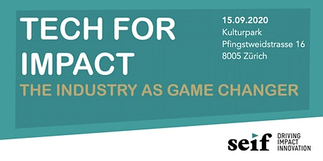 TECH FOR IMPACT - The industry as gamechanger Tickets
