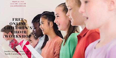 FREE Children's Choir Online Workshop tickets