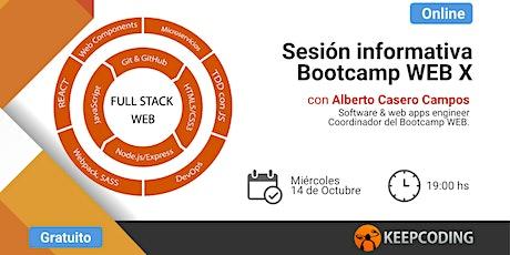 Sesión informativa: Full Stack Web Bootcamp - X Edición boletos
