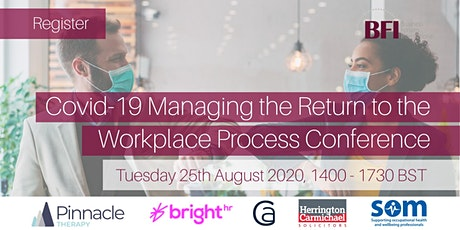Covid-19 Managing the Return to the Workplace Process Conference tickets