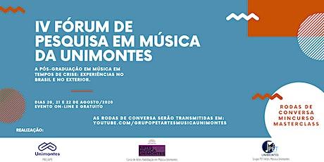 IV Fórum de Pesquisa em Música da Unimontes bilhetes
