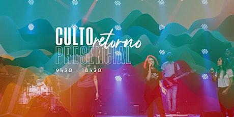 INJ - Culto Presencial -18h30 -  16/08/2020 - Culto Noite ingressos